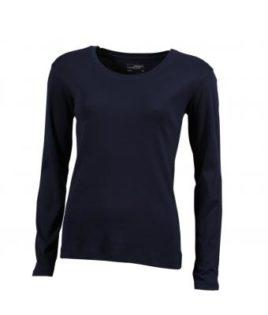 Damen Shirt Long-Sleeved - navy