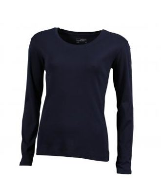 Damen Shirt Long-Sleeved - navy