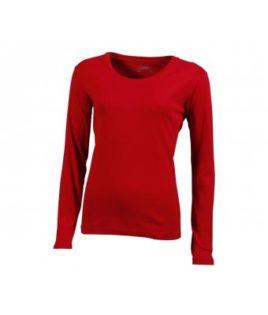 Damen Shirt Long-Sleeved - red