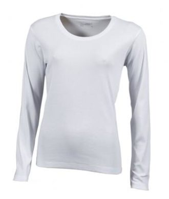 Damen Shirt Long-Sleeved - white