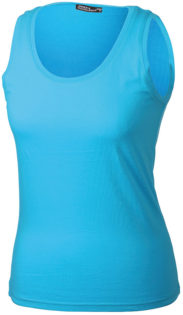 Damen Top Tank James Nicholson - turquoise