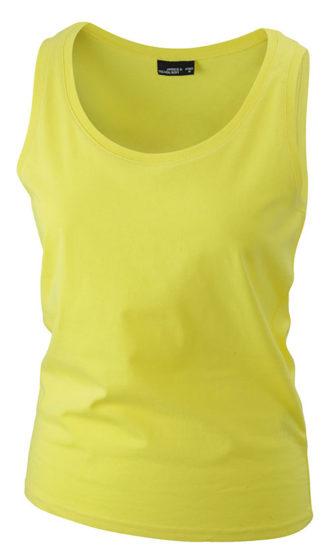 Damen Top Tank James Nicholson - yellow