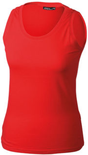 Damen Top Tank James Nicholson - red