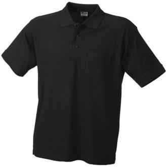 Poloshirt mit Brusttasche - black