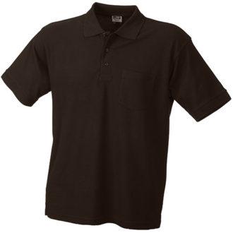 Poloshirt mit Brusttasche - brown