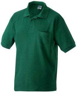 Poloshirt mit Brusttasche - darkgreen
