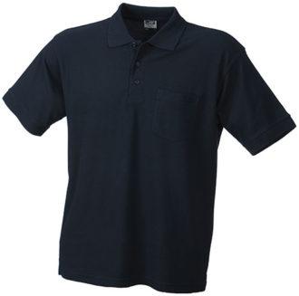 Poloshirt mit Brusttasche - navy