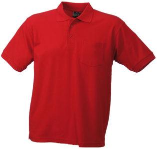 Poloshirt mit Brusttasche - red