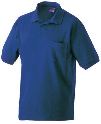 Poloshirt mit Brusttasche - royal