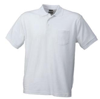 Poloshirt mit Brusttasche - white