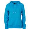 Damen Kapuzen Sweater - turquoise