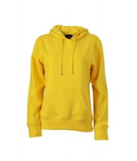 Damen Kapuzen Sweater - sunyellow