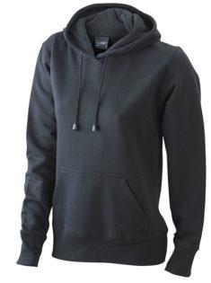 Damen Kapuzen Sweater - black