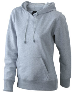 Damen Kapuzen Sweater - greyheather