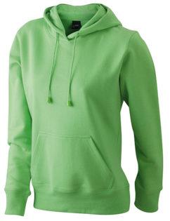 Damen Kapuzen Sweater - limegreen