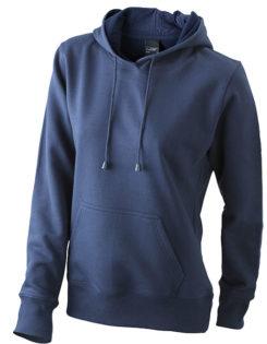 Damen Kapuzen Sweater - navy