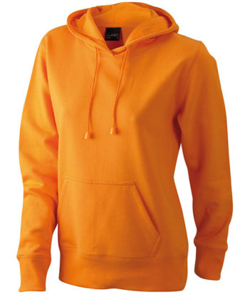 Damen Kapuzen Sweater - orange