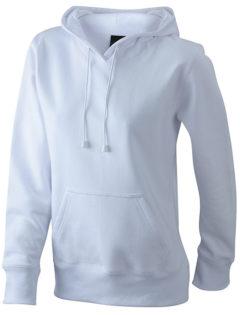 Damen Kapuzen Sweater - white