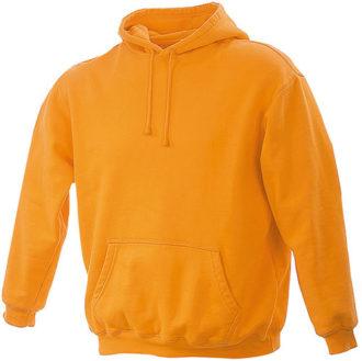 Kapuzenshirt Herren James Nicholson - orange