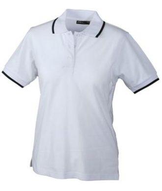 Ladies Tipping Polo - white navy