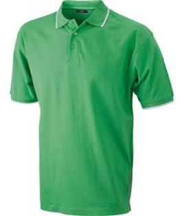 Ladies Tipping Polo - limegreen white