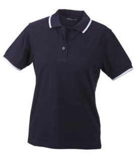 Ladies Tipping Polo - navy white