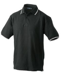 Tipping Polo Werbetextilien - black silver
