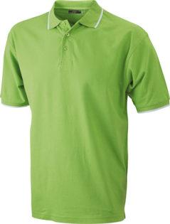 Tipping Polo Werbetextilien - limegreen white