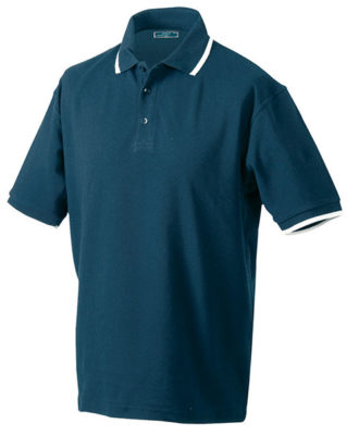 Tipping Polo Werbetextilien - navy white