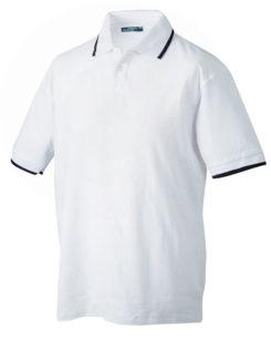 Tipping Polo Werbetextilien - white navy