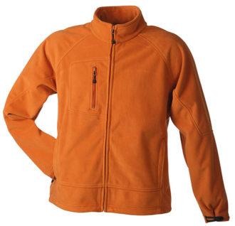 Men's Bonded Fleece - orange/carbon