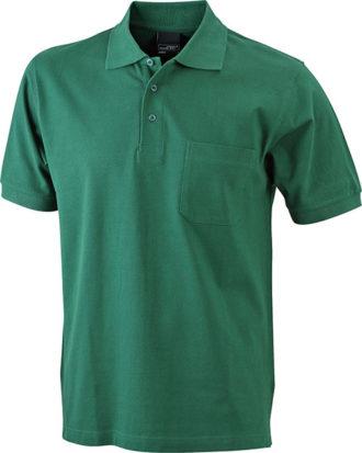 Polo Pique mit Brusttasche - darkgreen