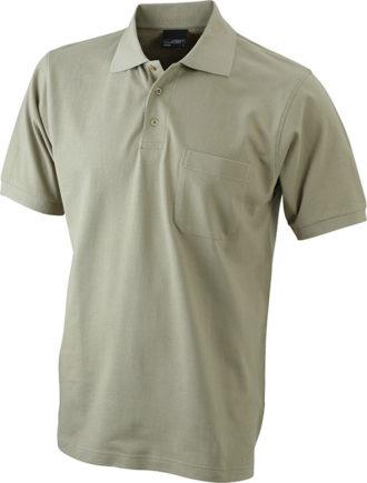Polo Pique mit Brusttasche -khaki