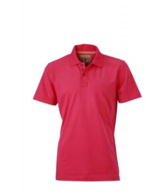 Werbetextilien Tight Fit Polo Vintage - pink