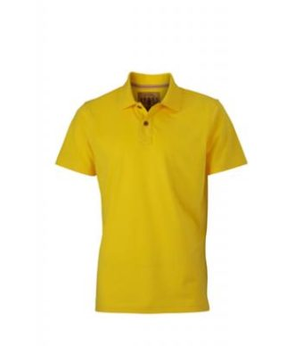 Werbetextilien Tight Fit Polo Vintage - sunyellow