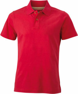 Werbetextilien Tight Fit Polo Vintage - red
