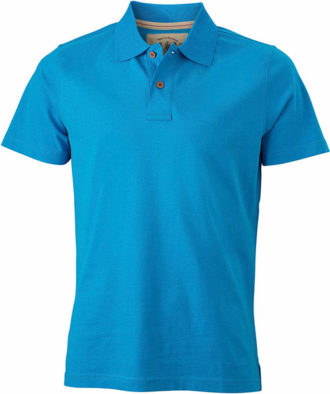 Werbetextilien Tight Fit Polo Vintage - turquoise