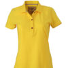 Werbetextilien Ladies Tight Fit Polo Vintage - sunyellow