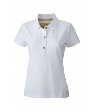 Werbetextilien Ladies Tight Fit Polo Vintage - white