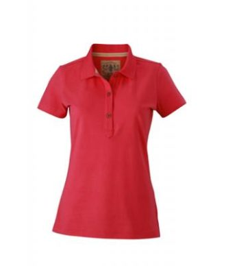Werbetextilien Ladies Tight Fit Polo Vintage - pink