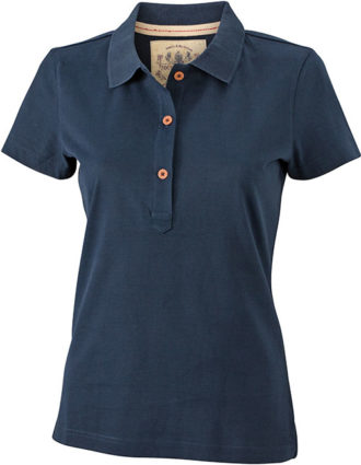 Werbetextilien Ladies Tight Fit Polo Vintage - navy