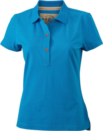 Werbetextilien Ladies Tight Fit Polo Vintage - turquoise