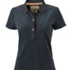 Werbetextilien Ladies Tight Fit Polo Vintage - black