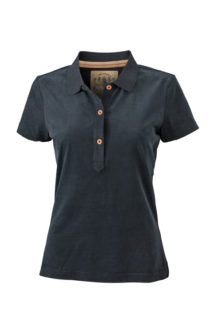 Werbetextilien Ladies Tight Fit Polo Vintage - black
