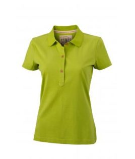Werbetextilien Ladies Tight Fit Polo Vintage - limegreen