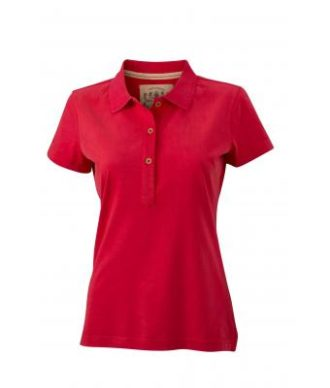 Werbetextilien Ladies Tight Fit Polo Vintage - red