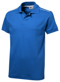 Backhand Polo Slazenger - ...in himmelblau/weiß