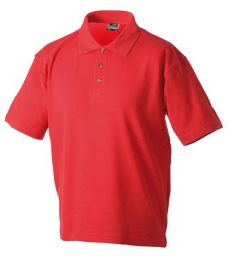 James & Nicholson Polo Pique Medium - red