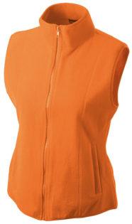 Ärmellose Fleecejacke Damen - orange