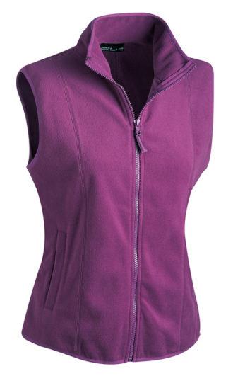 Ärmellose Fleecejacke Damen - purple
